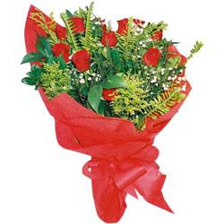 10 adet kirmizi gül buketi  Bayburt çiçek yolla