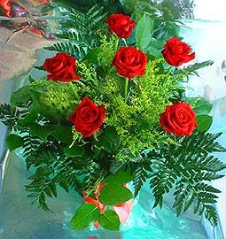 6 adet kirmizi gül buketi   Bayburt online çiçek gönderme sipariş