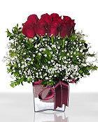 Bayburt çiçek , çiçekçi , çiçekçilik  11 adet gül mika yada cam - anneler günü seçimi -