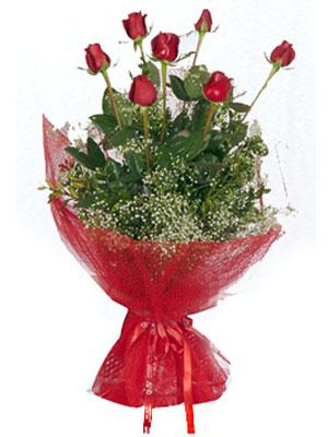 Bayburt çiçek servisi , çiçekçi adresleri  7 adet gülden buket görsel sik sadelik