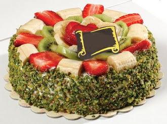 pasta gönder  4 ile 6 kisilik karisik meyvali yas pasta  Bayburt internetten çiçek siparişi
