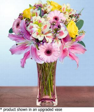 Anneme hediye karisik cam mevsim demeti  Bayburt internetten çiçek siparişi