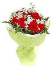 Bayburt çiçek , çiçekçi , çiçekçilik  7 adet kirmizi gül buketi tanzimi