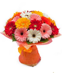 Renkli gerbera buketi  Bayburt anneler günü çiçek yolla