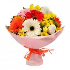 Karışık mevsim buketi Mevsimsel çiçek  Bayburt internetten çiçek siparişi