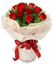 12 adet kırmızı gül buketi  Bayburt anneler günü çiçek yolla