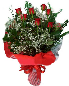 7 kırmızı gül buketi  Bayburt çiçek servisi , çiçekçi adresleri