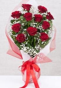 11 kırmızı gülden buket çiçeği  Bayburt 14 şubat sevgililer günü çiçek
