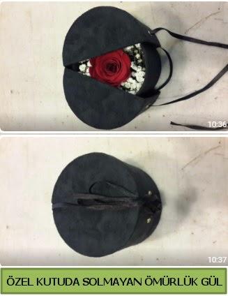 Solmayan ömürlük gül şoklanmış gül  Bayburt çiçek gönderme