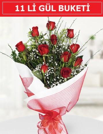 11 adet kırmızı gül buketi Aşk budur  Bayburt çiçek gönderme sitemiz güvenlidir