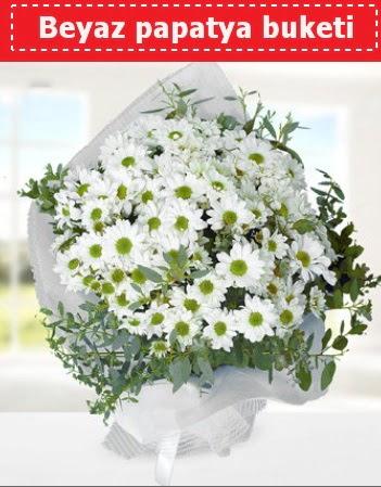 Beyaz Papatya Buketi  Bayburt 14 şubat sevgililer günü çiçek