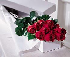 Bayburt çiçek satışı  özel kutuda 12 adet gül