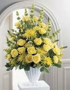 Bayburt çiçek siparişi sitesi  sari güllerden sebboy tanzim çiçek siparisi
