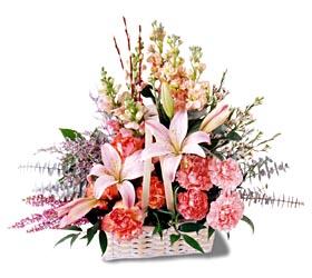 Bayburt çiçek siparişi sitesi  mevsim çiçekleri sepeti özel tanzim