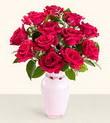 Bayburt hediye çiçek yolla  10 kirmizi gül cam yada mika vazo tanzim