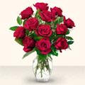 Bayburt çiçek yolla  10 adet gül cam yada mika vazo da