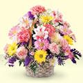 Bayburt uluslararası çiçek gönderme  sepet içerisinde gül ve mevsim