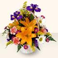 Bayburt 14 şubat sevgililer günü çiçek  sepet içinde karisik çiçekler