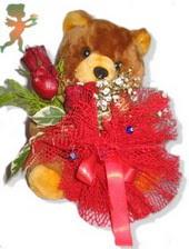 oyuncak ayi ve gül tanzim  Bayburt çiçekçiler