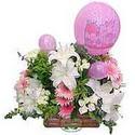 balon ve çiçeklerle tanzim  Bayburt internetten çiçek satışı