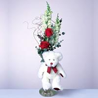 2 adet gül ve panda özel  Bayburt çiçekçi mağazası