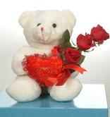 3 adetgül ve oyuncak   Bayburt online çiçekçi , çiçek siparişi