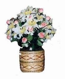 yapay karisik çiçek sepeti   Bayburt çiçek servisi , çiçekçi adresleri