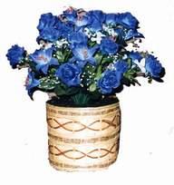 yapay mavi çiçek sepeti  Bayburt cicekciler , cicek siparisi