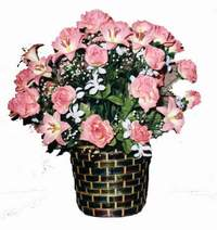 yapay karisik çiçek sepeti  Bayburt çiçek online çiçek siparişi