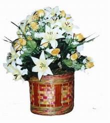 yapay karisik çiçek sepeti   Bayburt cicekciler , cicek siparisi