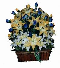 yapay karisik çiçek sepeti   Bayburt çiçek gönderme
