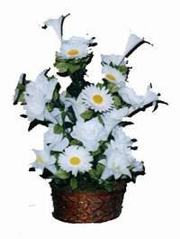yapay karisik çiçek sepeti  Bayburt çiçek siparişi vermek