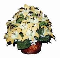 yapay karisik çiçek sepeti   Bayburt çiçek siparişi sitesi