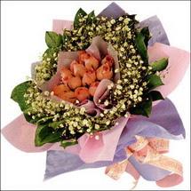 11  adet  gül ve   elyaflar   Bayburt çiçekçi mağazası