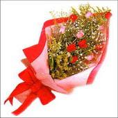 12 adet renkli  gül buketi   Bayburt çiçekçi mağazası