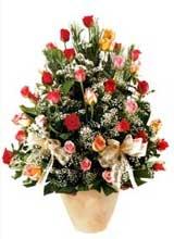 91 adet renkli gül aranjman   Bayburt çiçek gönderme sitemiz güvenlidir