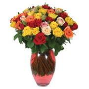 51 adet gül ve kaliteli vazo   Bayburt çiçek gönderme sitemiz güvenlidir