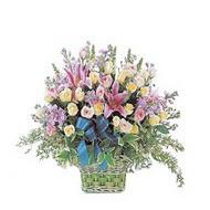 sepette kazablanka ve güller   Bayburt çiçek gönderme