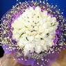 71 adet beyaz gül buketi   Bayburt çiçek , çiçekçi , çiçekçilik