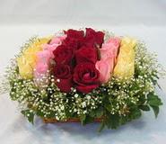 15 adet reprenkli gül sepeti   Bayburt çiçek yolla