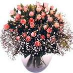 büyük cam fanusta güller   Bayburt çiçek yolla