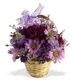 Bayburt uluslararası çiçek gönderme  sepet içerisinde krizantem çiçekleri