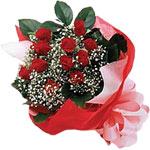 Bayburt internetten çiçek satışı  KIRMIZI AMBALAJ BUKETINDE 12 ADET GÜL