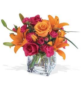 Bayburt çiçek mağazası , çiçekçi adresleri  cam içerisinde kir çiçekleri demeti