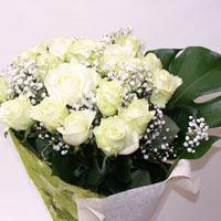 Bayburt hediye çiçek yolla  11 adet sade beyaz gül buketi