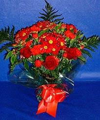 Bayburt hediye çiçek yolla  3 adet kirmizi gül ve kir çiçekleri buketi
