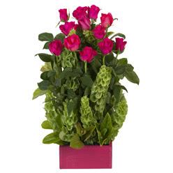 12 adet kirmizi gül aranjmani  Bayburt çiçek mağazası , çiçekçi adresleri