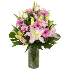 vazo içerisinde karisik mevsim çiçekleri  Bayburt internetten çiçek siparişi