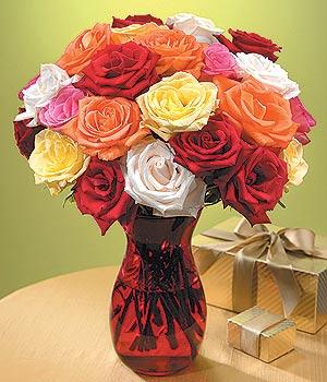 Bayburt anneler günü çiçek yolla  13 adet renkli gül