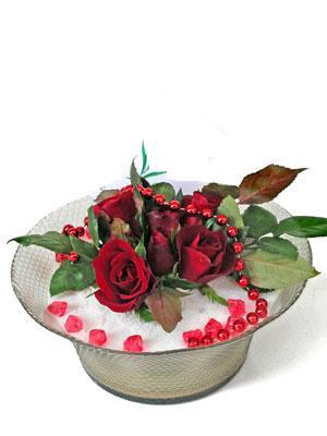 Bayburt çiçek siparişi vermek  EN ÇOK Sevenlere 7 adet kirmizi gül mika yada cam tanzim